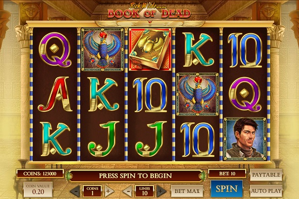 Book of Dead Slot Gameplay